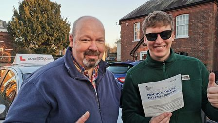 Hertfordshire singer/songwriter George Ezra passed his driving test first time at St Albans test cen