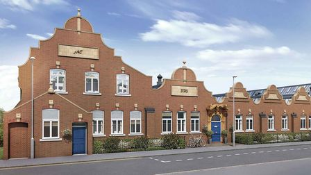 CGI of the refurbished Beaumont Works building, now known as Hansell House, on Sutton Road, St Alban