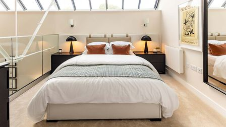 A mezzanine bedroom at Hansell House. Picture: Taylor Wimpey