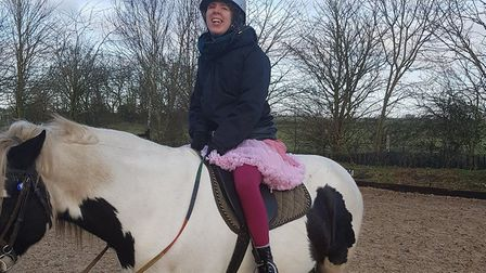 Lucy is now able to go horse riding as she is having less seizures.