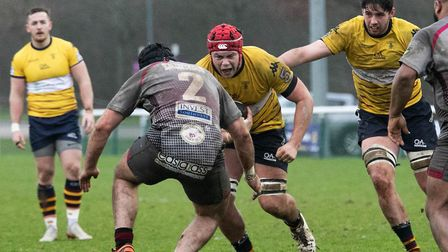 Old Albanian lost by a single point to Taunton Titans at Woollams in National Two South. Picture: NE