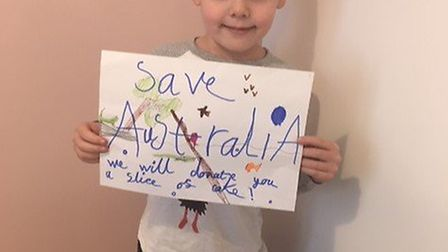 Luke Wilson, seven, from Brampton, hoped to raise £45 for an animal charity - but ended up with £243