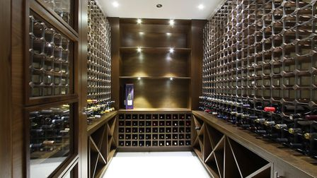 There is a chilled cellar with bespoke wine storage on the lower ground floor. Picture: John Curtis