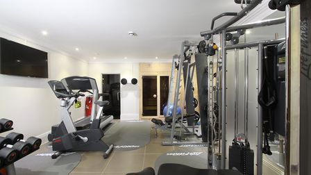 Leisure facilities include a large fitness room with separate sauna and steam room. Picture: John Cu