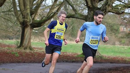 Jonathan Scott in action for St Albans Striders at the 2020 Watford Half Marathon. Picture: STEVE HO