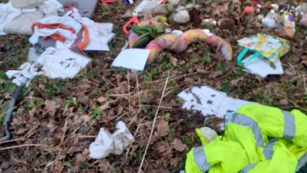 The damage after vandals stole equipment from Watling View Forest School in St Albans. Picture: Watl