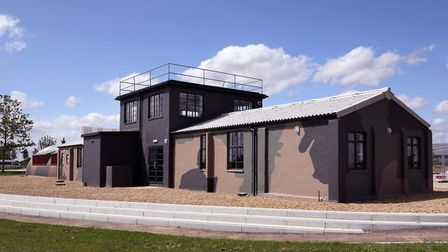 The old Second World War watch office at Alconbuy Weald has been restored