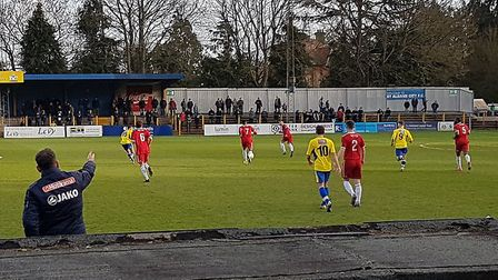 St Albans City took on Welling United at Clarence Park in a National League South fixture.