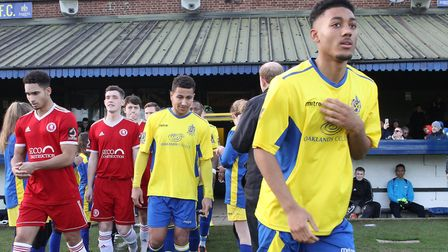 Lewis Gordon made his debut for St Albans City against Welling United having moved on loan from Watf
