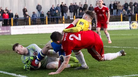 Joe Iaciofano in action for St Albans City against Welling United. Picture: JIM STANDEN