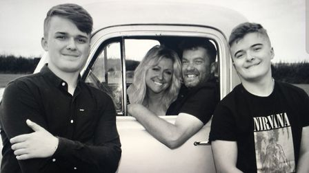 Paul and Jane Fisher with their sons Tom and Sam