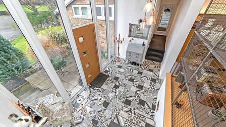 The light and spacious entrance hall boasts high vaulted ceilings. Picture: Fine & Country