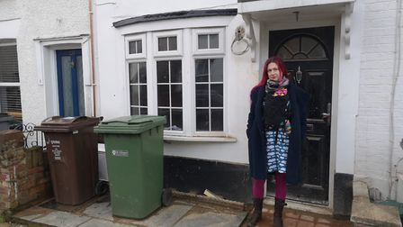Hillary Childs outside her property in Cavendish Road.