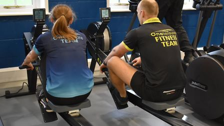 Working out with someone can make it easier to achieve your fitness goals. Picture: One Leisure