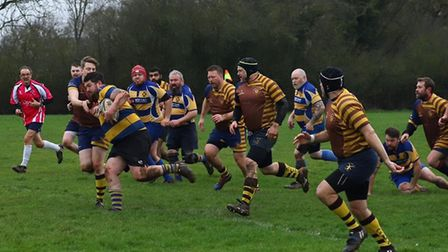 St Albans Rugby Club's third team in action.