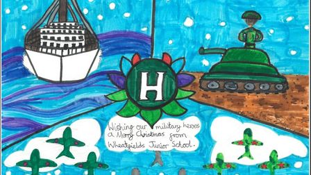 Rebecca Lord, 11, from St Albans is a runner-up in the Hertfordshire Heroes Christmas Art Competitio