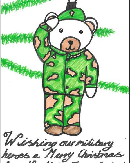 Pearl MacMurray, 11, from St Albans is a runner-up in the Hertfordshire Heroes Christmas Art Competi