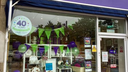 The Hospice of St Francis shop in The Quadrant, St Albans, is celebrating its 10th birthday this Sat