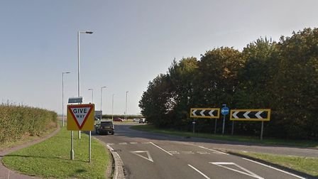 The collision occurred on the A505 at the roundabout for Royston's Tesco Extra store and Old North R