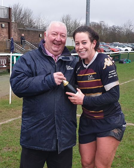 Caz Collie was the player of the match for OA Saints against Thurrock.