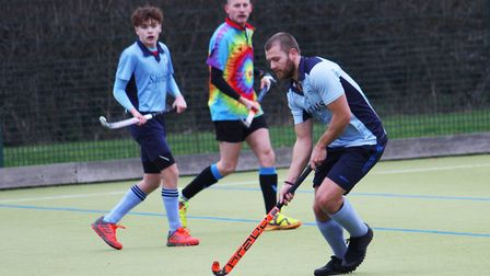 Phil Round hit St Neots 1sts' late equaliser against Bourne Deeping 2nds. Picture: OLI DAWES