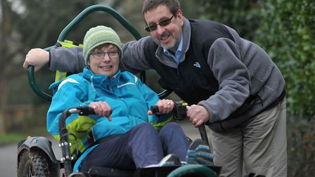 James Catmur who has multiple sclerosis, and who witnessed his wife Helen's death from motor neuron