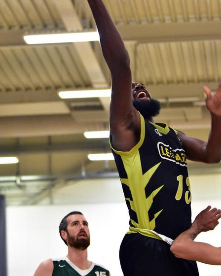 Orlan Jackman in action for Essex & Herts Leopards' in their win over Westminster Warriors at Oaklan