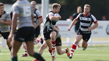 Tom Sweeney added a try to his usual exemplary kicking against Amersham & Chiltern. Picture: DANNY L