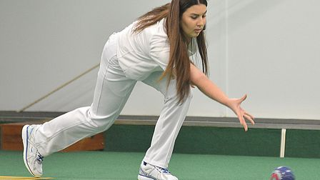 Rebecca Moorbey is one of the stars of St Neots & District Indoor Bowls Club.