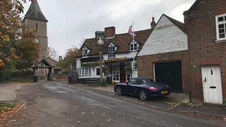 The Queen's Head, with St Leonard's Church in the background. Picture: Archant