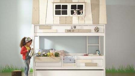 Personal style: The Adventure Hangout Kids Bunk Bed by Lifetime has opening sash windows, a choice o