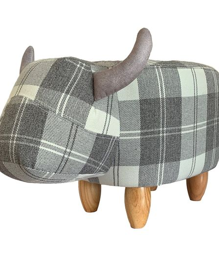 Tassie the Tartan Cow Footstool. 79.99 from Red Candy, www.redcandy.co.uk