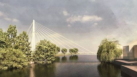 The bridge would have been located near the Town Bridge.