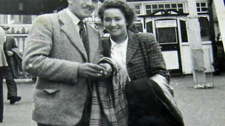Peter and Edna in the summer of 1948, months before they married. Picture: Courtesy of E.W Peters