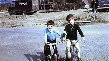 David and Andy York pictured in Godmanchester. PICTURE: Andy York