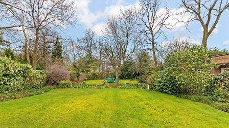 There is a lovely east-facing rear garden with a side driveway leading to a double garage. Picture: