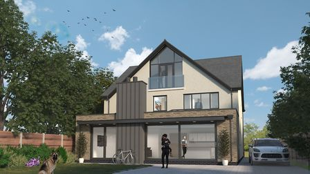 CGI of how 8 Homewood Road could look with a new property built on the site. Picture: Cassidy & Tate