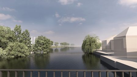 An artist's impression of the proposed St Neots bridge.