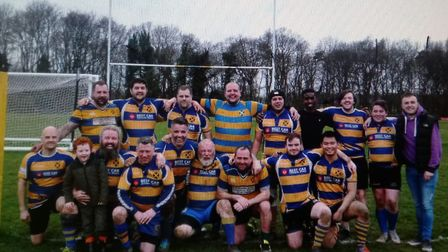 St Albans Rugby Club's third team after their game with Datchworth.