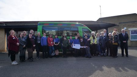 Children at Pepys Road School have a new minibus