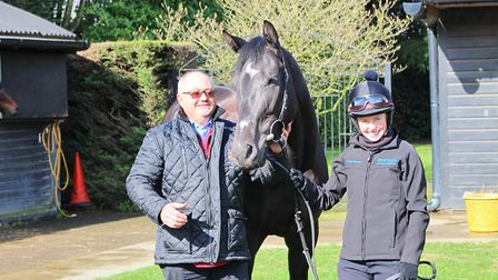 Trainer Dean Ivory with Fantastic Flyer and jockey Sophie Ralston, the combination who brought his 5