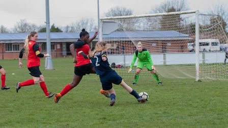 Holly Rossington was the player of the match for St Albans Ladies against Hartham. Picture: LEONIE C