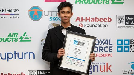 Ifaz Syed from St Columbas College in St Albans was shortlisted for the British Education Awards 202