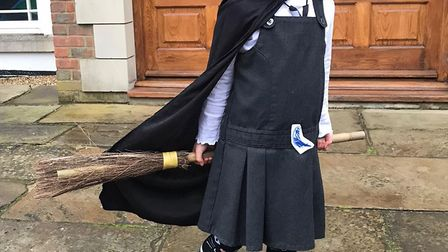 World Book Day 2020: Emmeline Murray, five, as Mildred Hubble.