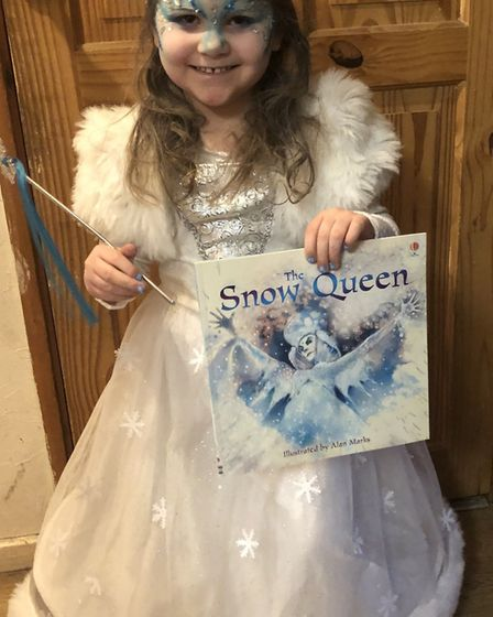 World Book Day 2020: Brooke Griggs, four, as the Snow Queen.