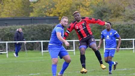 Wilkins Makate featured in a new-look Huntingdon Town team in their goalless draw at Rushden & Higha