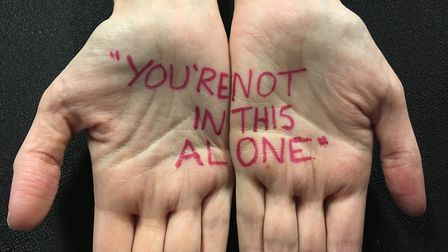 A mental health message: You're not alone in this. Picture: Nick Gill