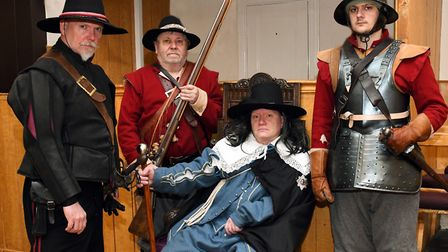 The Seal Knot Society recreated the trial of Charles 1 for the reopening of the Cromwell Museum