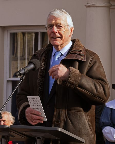 John Major was at the opening event at the museum on Sunday