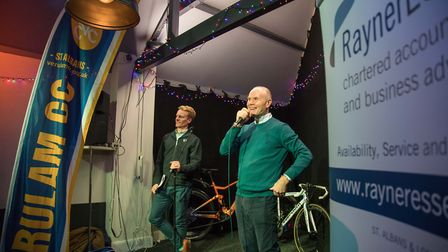 Verulam Cycling Club chairman Doug Driscoll is interviewed by Jez Cox at the 2020 Verulam Reallymovi